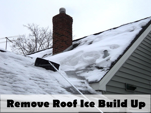 remove roof ice build up