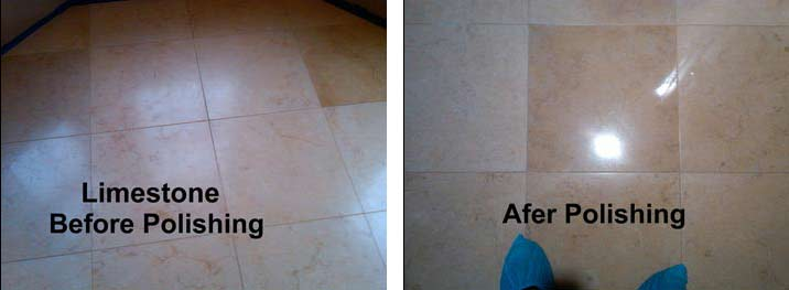 Limestone Before AND After Polishing