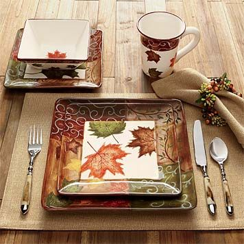 autumnal dinnerware