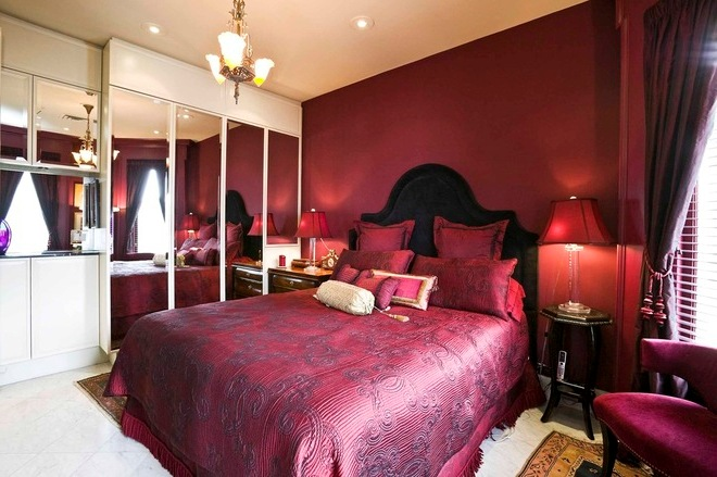 Cranberry red wall