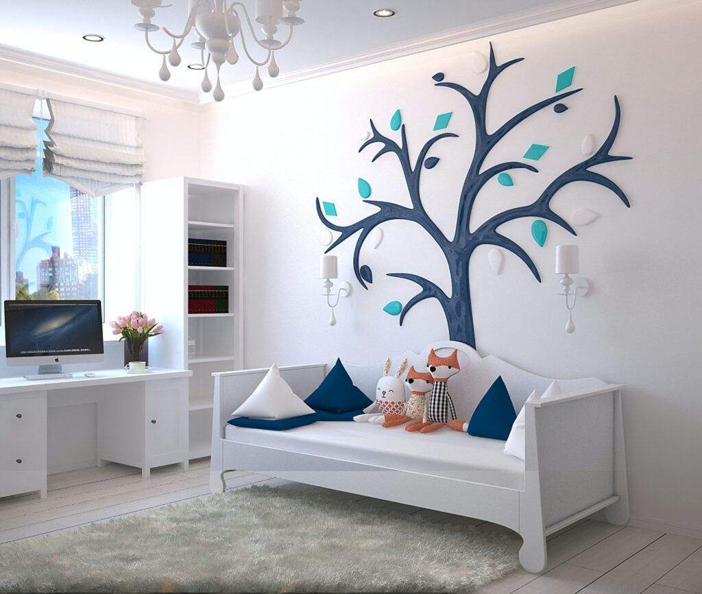 baby room clutter free