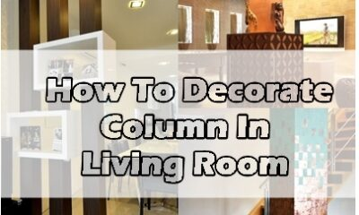 column decorate ideas in living room
