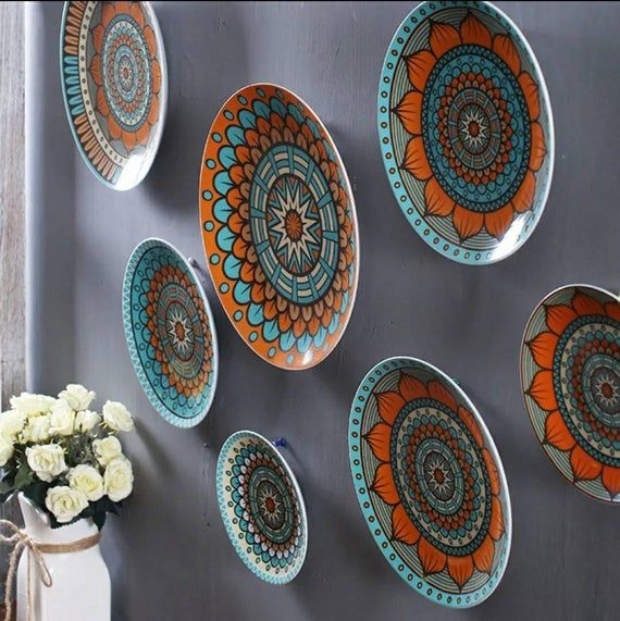 Colorful Dishes wall art
